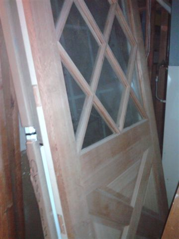 Leaded Glass Exterior Door EXAMPLE: This Is An Installed Version Of The Door  Listed As: Leaded Glass Inserts/rect. Panels Fir U2013 Ext.